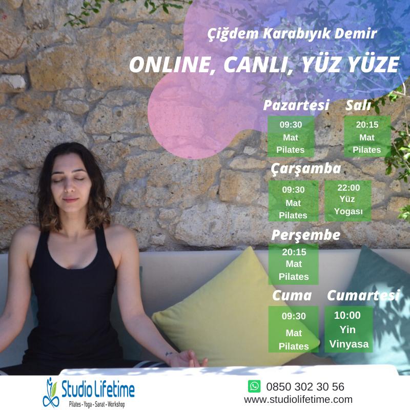 Online,Canlı,Yüz Yüze Pilates Ve Yoga